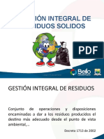 GESTIÓN INTEGRAL DE RESIDUOS SOLIDOS