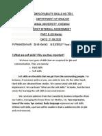 Employability Skills Assessment1 Part B Praneshvar 2018104042