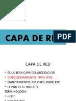 CAPA DE RED