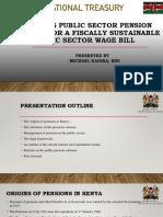 Kenya's Public Sector Pension Liability - Presentation