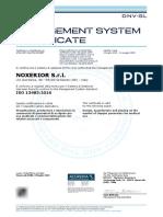 3. Certificado ISO 13485 + ISO 9001 Generador de Oxigeno + Traduccion