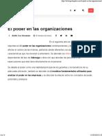 El poder en las organizaciones • GestioPolis