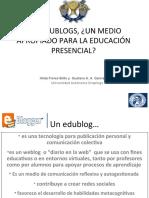 LOS EDUBLOGS, ¿UN MEDIO APROPIADO PARA