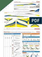 Laminated Paper Plane Daze Pattern