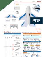 Laminated Paper Plane Saber Pattern