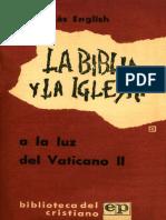 La Biblia a la luz del Concilio Vaticano II