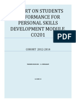 exam report Personal skills development