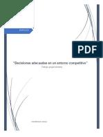 """""""Decisiones adecuadas en un entorno competitivo"""""""