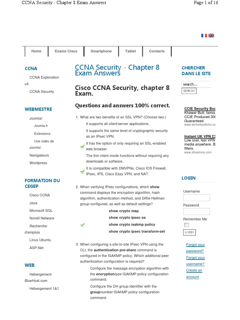 ccna-security-chapter-8 | Virtual Private Network