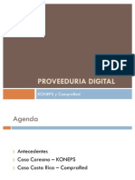 Proveeduria Digital - Koneps y CompraRed
