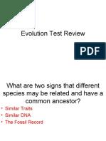 Evolution Test review