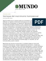Ventajas Del Matrominio Homosexual