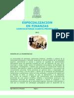 Especializacion en Finanzas u. de a. 2011
