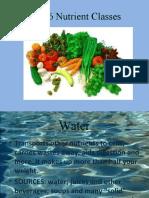 The 6 Nutrient Classes