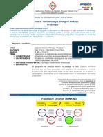 Primer Año Semana 13 Aplicamos La Metodologia de DESIGN THINKING - PROTOTIPO Semana 13 Del 03 de Julio