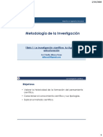 Tema 1-Ciencia e investigación científica