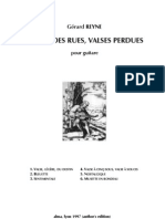 REYNE, Gérard • Valses perdues, valses des rues (author's edition, 1997) (guitar music score) (+mp3)