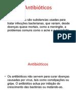 Cuidados com a administração de antibioticos