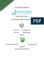 intrnship report Bestway Cement