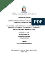 ANTEPROYECTO CURSO MONOGRAFICO /UNICARIBE