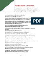 JIDDU KRISHNAMURTI - CITATIONS (2 Pages - 53 Ko).pdf