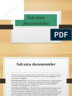 salvarea documentelor