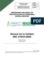 Manual de la Calidad ISO 17024_2003