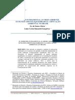 Artigo - O direito fundamental ao meio ambiente ecologicamente equilibrado e a educação ambiental no brasil