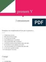 Le pronom Y (1)