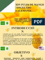 Presentación  exportación pulpa de mango para Alemania