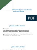 Criterios e instrumentos para la evaluación de competencias