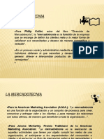 Tema 1 La Mercadotecnia