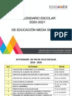 Presentación calendario 20-21 EMS