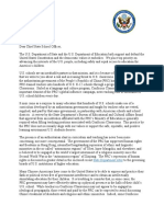 Pompeo and DeVos Letter to Chief State School Officers