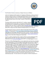 Pompeo and DeVos Letter to Presidents of American Institutions of Higher Education