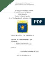 TECNOLOGIA DE ALIMENTOS II