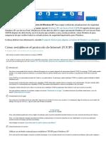 Cómo restablecer el protocolo de Internet (TCP_IP)
