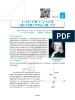 Continuity and Differentiability 555