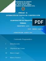 CLASES DE ANÁLISIS DE PRECIOS UNITARIOS AGOSTO 2015