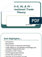 Unit II,III,&IV - International Trade Theory