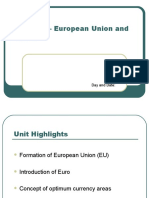 Unit IX - European Union and Euro