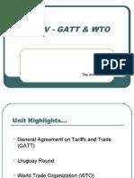 Unit V - GAtt & WTO