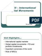 Unit XII-International Capital Movements