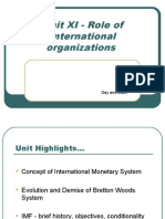 Unit XI-Role of International Organizations
