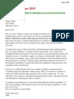 SBI letter