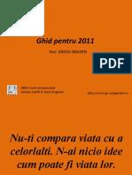 Ghid pentru 2011