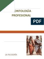DEONTOLOGIA PROFESIONAL - FILOSOFÌA