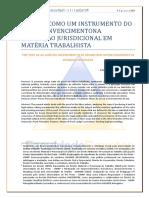 54-264-1-PB A prova como instrumento do livre convencimento em materia trabalhista