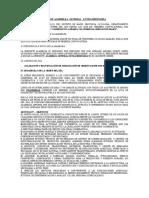 ACTA DE ASAMBLEA  GENERAL   EXTRAORDINARIA ACLARATORIA