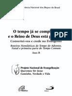 Ano B 1 Advento - Natal - Tempo Comum (Inicio) 2005-2006